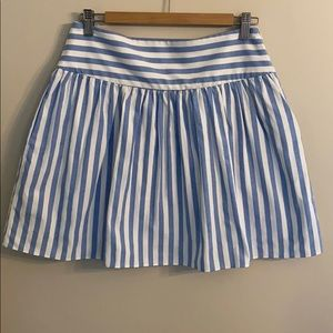 Milly Blue and white striped skirt, size 8
